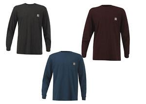 02506cd33 Carhartt K126 Men's Workwear Pocket Long Sleeve T-Shirt Midweight ...