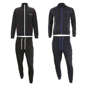 Hugo-Boss-Men-039-s-Athletic-Sport-Tracksuit-Zip-Up-Jacket-and-Pants-Set