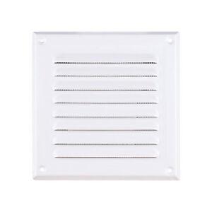 Metal-Blanco-Ventilacion-Rejilla-con-FLY-PANTALLA-TUBO-Cubierta-de-ventilador