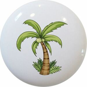 Palm Tree With Grass Ceramic Cabinet Drawer Pull Knob