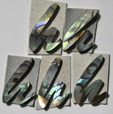 5 Lowercase G in Gold Mother of Pearl 10.7mm x 14.5mm x 1.5mm thickness