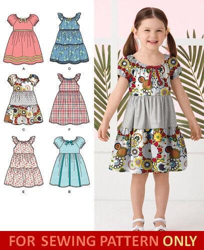 Sewing Pattern Make Dress Sundress Child Girl Six Styles Sizes 40 40 Beauteous Sundress Sewing Pattern
