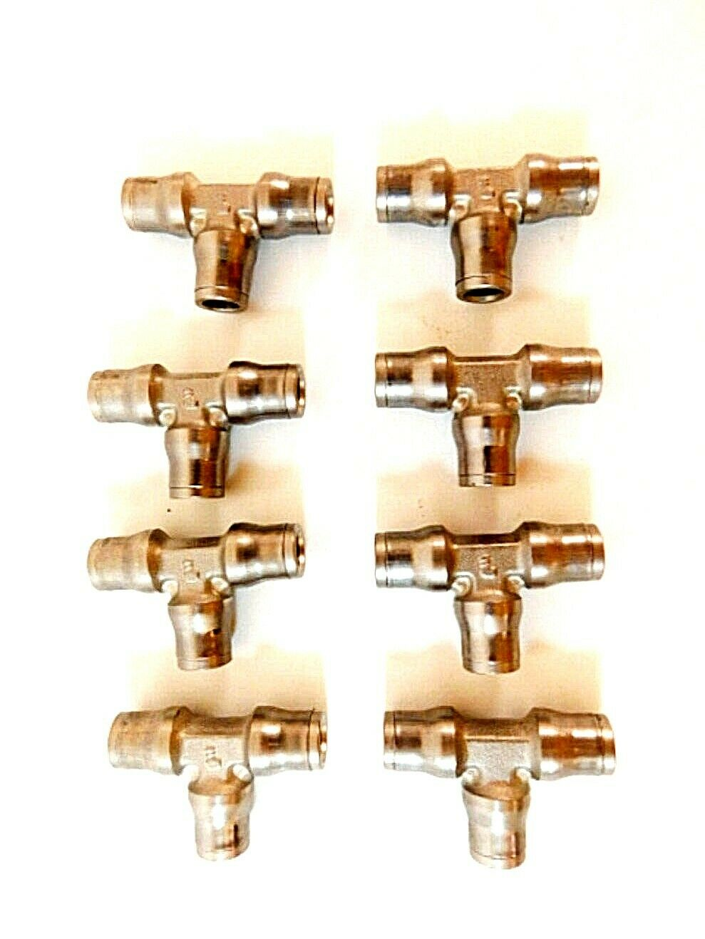 6 mm Tube OD Union Tee Legris 3604 06 00 Nickel-Plated Brass Push-to-Connect Fitting