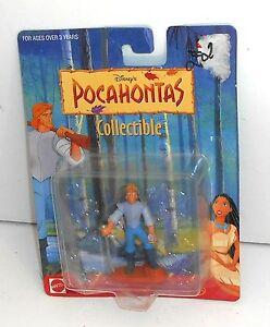 1995 Disney Toys - Pocahontas - JOHN SMITH Mini Figure - New on Card - MOC (P3)