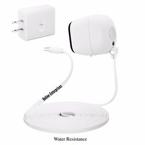 Arlo-70-Degree-20-Foot-Flat-cord-Super-Charging-power-Cable-w-or-w-out-plugs