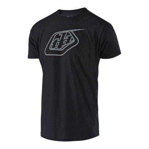 New Adult Troy Lee Designs TLD Logo T-Shirt TEE MX Black Reflective S M L