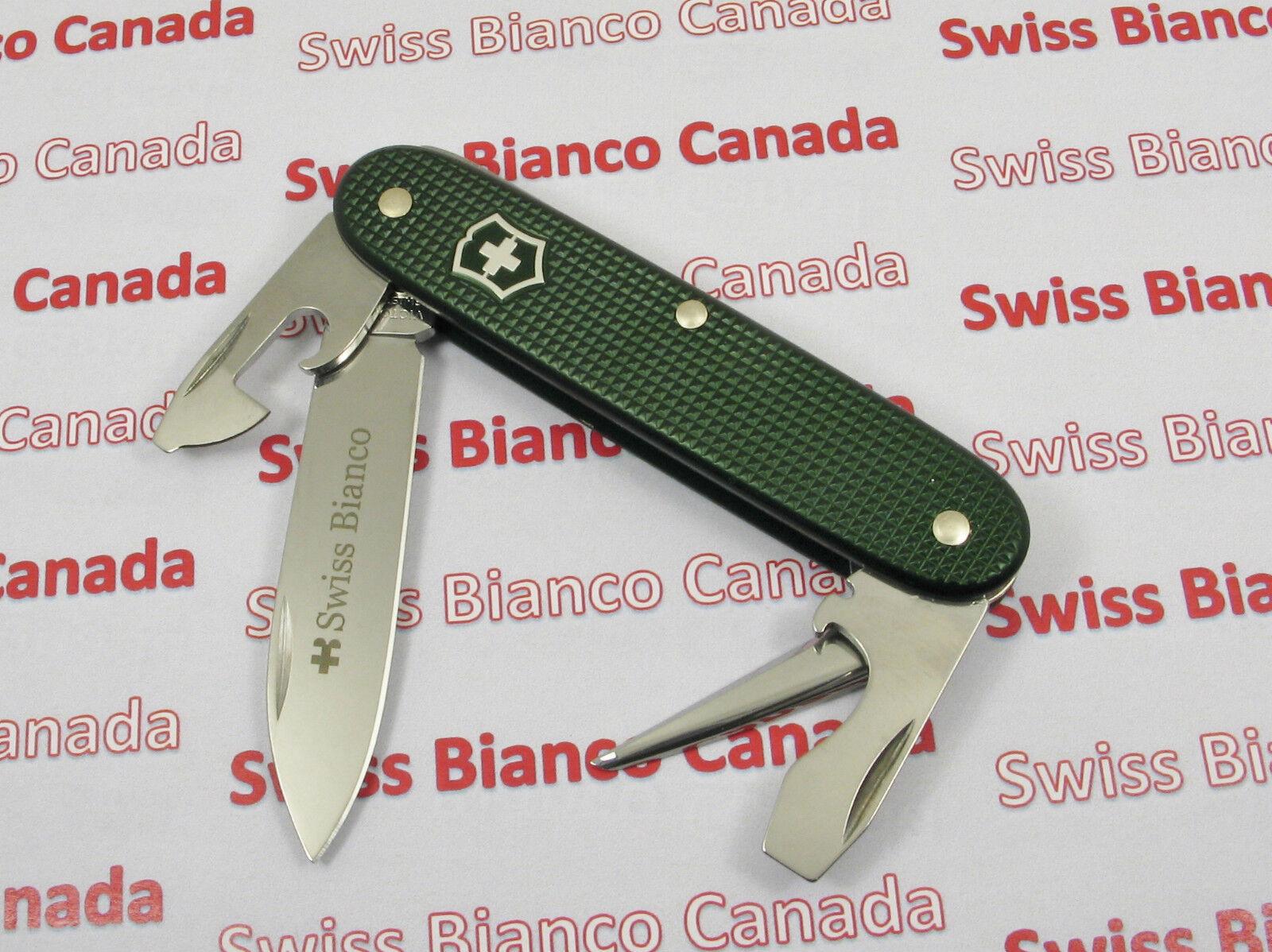 Swiss Bianco Exclusive Victorinox Pioneer Soldier F Green Alox Swiss Army Knife