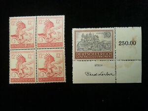 Deutsches Reich 1944-MINR. 906 + General gouvernement 1941-MINR. 65