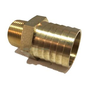 "1/"" Male Brass Hose Barbs Barb To 3//4/"" NPT Pipe Male Thread"