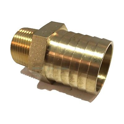 """Brass Fittings: Brass Male Hose Barb QTY 25 Male Pipe Size 1//4/"""" Hose ID 3//8"""
