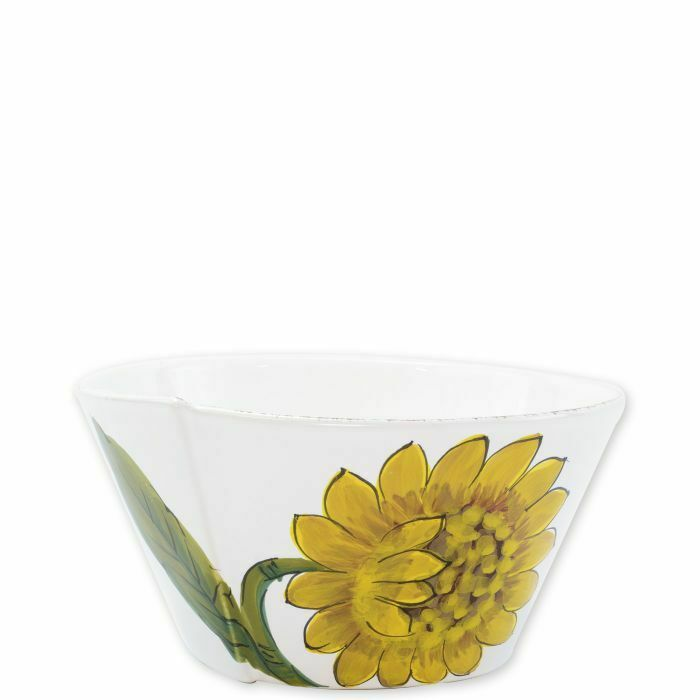 Vietri Lastra Tournesol Moyen empilable Serving Bowl-Lot de 2