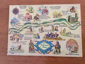 Unused-Map-Postcard-of-The-Pilgrim-039-s-Way-Kent-by-Elgate