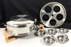 West Bend Royal Queen Stainless 5 Cups Egg Poacher Insert