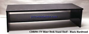 TV-Riser-Desk-Stand-w-Shelf-MTO-Ship-in-4-Weeks-36L-14W-Pic-Color-Height