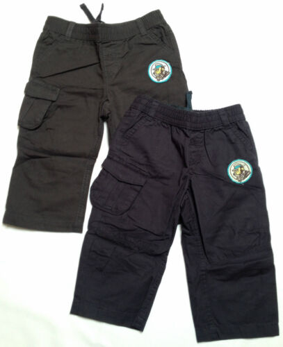NEW Ex BABY GAP Boys Navy Grey Black Combat Trousers 3 6 9 12 18 24 Mths 2 3 Yrs