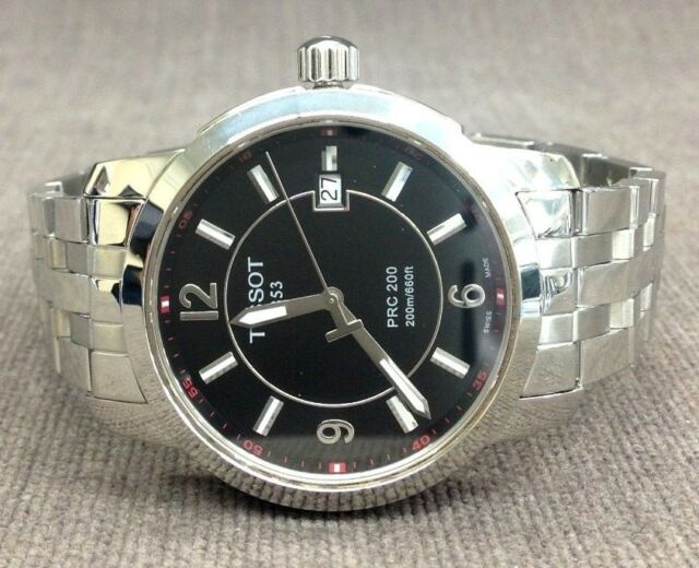 dec15afa899 Tissot PRC 200 T014410a Black Dial Watch Stainless Steel for sale ...