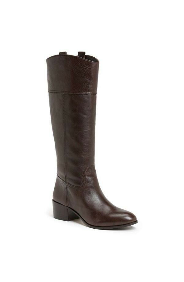 NEW $495 Louise Et Cie Verrah Tall Brown Leather Equestrian Boots 9.5 riding