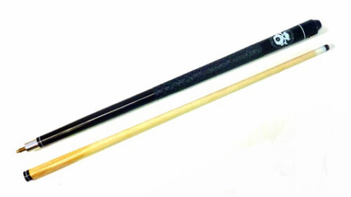 AMERICAN 12mm TIP HARWOOD SKULLY POOL CUE AVAILABLE IN VARIOUS SIZES