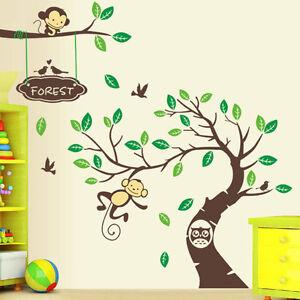 Das Bild Wird Geladen Wandtattoo Zoo Affe Wand Sticker Dschungel  Kinderzimmer Wald