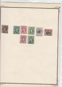 costa rica stamps on 2 album page ref 13476