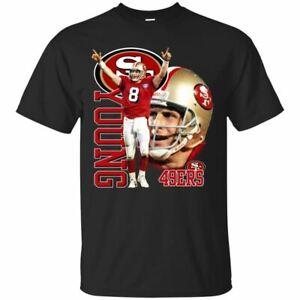 Steve-Young-T-Shirt-San-Francisco-49ers-Men-039-s-Tee-Shirt-Short-Sleeve-S-5XL