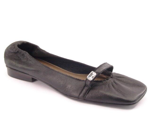 New MATISSE Brazil Women Blk Leather Mary Jane Flat Low Heel Slip On shoes Sz 9 M