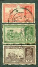 India 1937 2as,3as,4as GVI,Transport Pictorials (3 LARGE)USED-STAMP PACKET