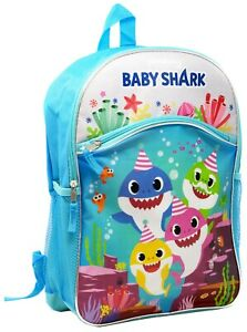 BABY SHARK GIFT SMALL BACKPACK MINI BAG BOY GIRL SCHOOL TRAVEL MOCHILA PINKFONG