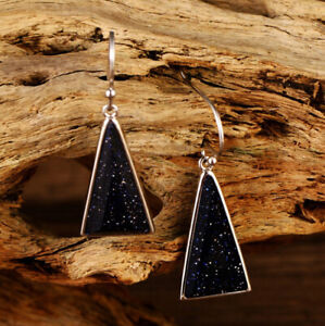 A01-Earring-Triangle-from-Turquoise-Gemstones-and-Sterling-Silver-925