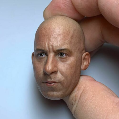"""1//6th Scale Vin Diesel Male Head Carved Sculpt Fit 12/"""" Collectible Doll New Toy"""