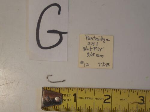 16  Partridge Hooks 12 14 10 Partridge Hooks SH-1 WET Fly Tying Hooks 8