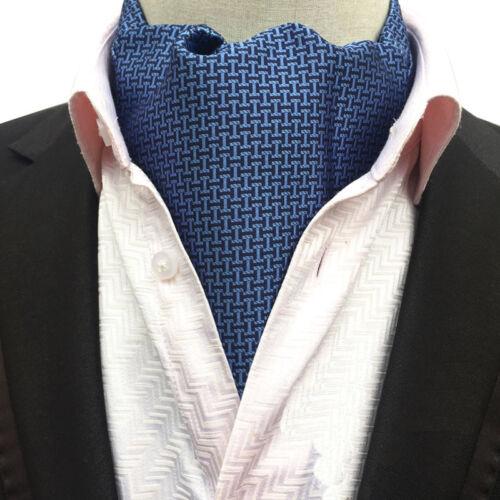 Herrenmode Houndstooth Paisley Lange Schals Halstuch Ascot Hochzeit Krawatten