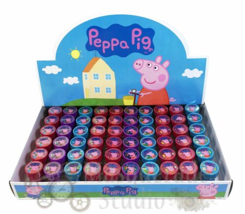 Peppa Pig Self Inking Stamps for Kids Goodies Party Favor 60pc Stampers Nick Jr