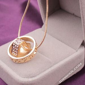 Herz-Silber-Gold-Schmuck-Damen-Halskette-Anhaenger-Geschenk-Glueck-LA-FERANI