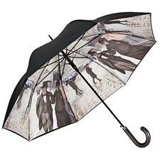 Regenschirm Auf-Automatik Autofahrerschirm doppelt bespannt  Stabil Bananenblatt