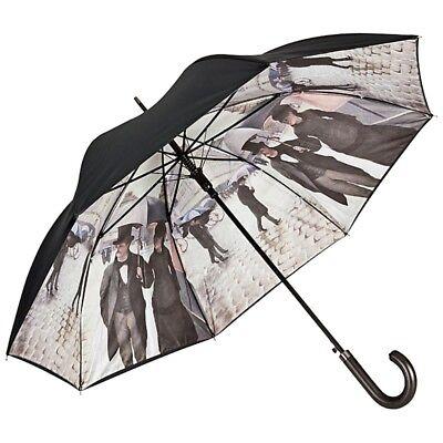 Simbolo Del Marchio Ombrello Bastone Ombrello Stabile Arte Doppio Montate Caillebotte Paris Nella Pioggia-mostra Il Titolo Originale