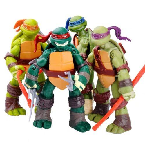 4PCS Anime Film Kinder Spielzeug TMNT Teenage Mutant Ninja Turtles Action Figur
