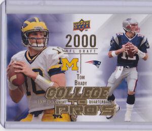 Details about TOM BRADY 2000 NFL DRAFT Upper Deck COLLEGE PROS $$ RARE  INSERT CARD Patriots!