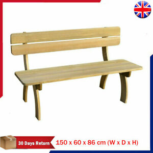 Outdoor Picnic Table with Benches FSC Impregnated Pinewood B9H4