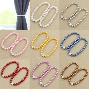Raffhalter-Bunt-Beads-Modern-Magnet-Vorhang-Holder-Curtains-Tieback-Wohnung-Deko