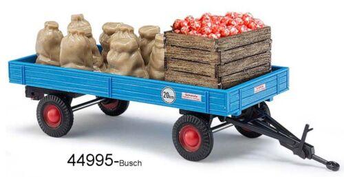 Busch 44995 pista h0-remolque con manzana carga sacos nuevo