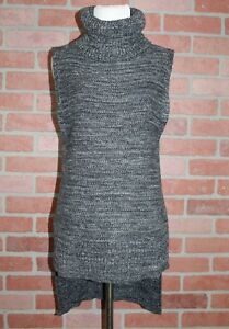 1e6c6bb3ca3 Details about Banana Republic Womens Sleeveless Gray Knit High Low  Turtleneck Sweater Size XS