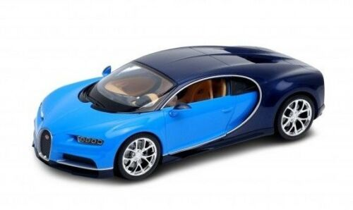 Blitz envío Bugatti chiron azul-azul oscuro Welly modelo auto 1:24 nuevo /& OVP