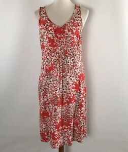 J-Jill-Women-s-Dress-Size-10-Sleeveless-Rayon-Red-Floral