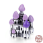 925 Sterling Charm Fantasy Castle My Princess Purple Color Charm Beads fit Chain