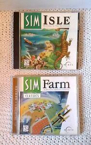 Sim Farm Classics Isle PC Game Set Maxis Rainforest Country Cousin Windows