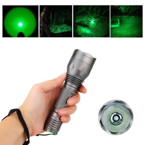 Marvelous Image Is Loading 250 Yards Green Light LED Flashlight For Hunting