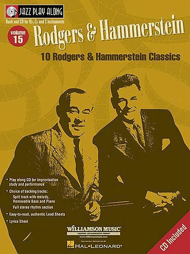 Learn Play Rodgers Hammerstein Alto Tenor Sax Piano Trumpet Music Book & CD
