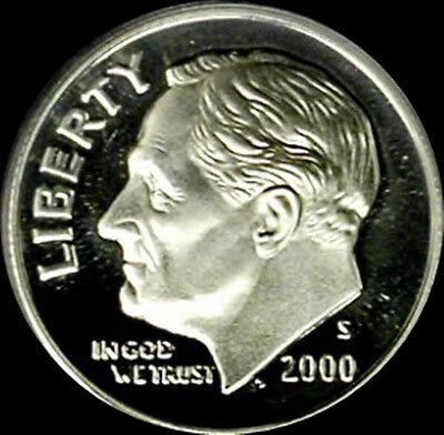 1992-2007 90/% Silver Roosevelt Dime Gem Proof Roll-50 Coins