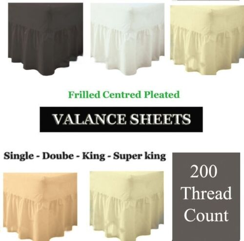 100/% EGYPTIAN COTTON VALANCE SHEETS 200 THREAD SINGLE DOUBLE KING SUPER KING